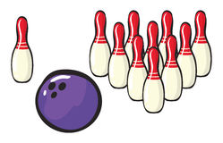 Bowling sport accessories Stock Photos