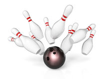 Bowling sport background Stock Images