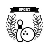Bowling sport emblem icon Royalty Free Stock Photography