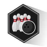 Bowling sport emblem icon Stock Image