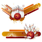 Bowling strike Stock Images