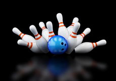Bowling strike Stock Photography