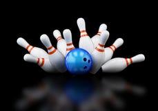 Bowling Strike Stock Photography