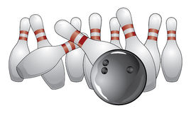 Bowling a Strike Royalty Free Stock Images
