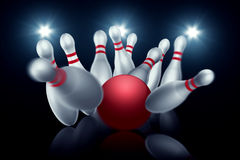 Free Bowling Strike Royalty Free Stock Photo - 50005855