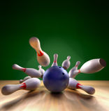 Bowling Strike Royalty Free Stock Image