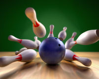 Free Bowling Strike Stock Photos - 7590023
