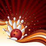 bowling strike background vector illustration