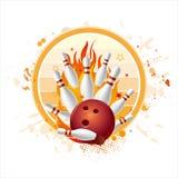bowling strike background royalty free illustration