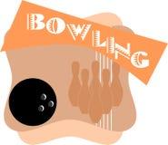 Nice Bowling Strike illustration isolated Royalty Free Stock Image