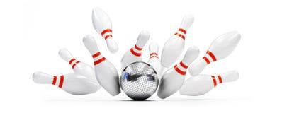 Bowling Strike Disco Ball Stock Photo