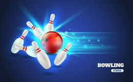 Bowling Strike Illustration Stock Photography