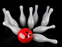 Bowling Strike Royalty Free Stock Photo