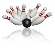 Bowling Strike - Isolated Stock Photos