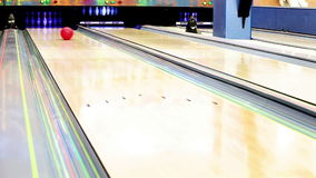 Bowling Strike moment Stock Photos
