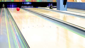 Bowling Strike moment Stock Photography