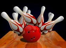 Bowling Strike On Pin Royalty Free Stock Photos