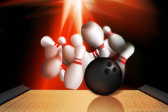 Bowling strike out Stock Photos