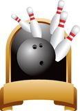 Bowling strike trophy Stock Photo