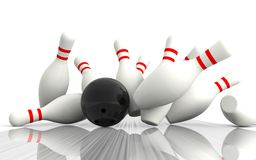 Bowling - The strikes Royalty Free Stock Images