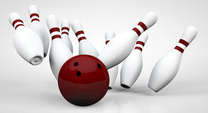 Bowling - The strikes Stock Image