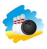 Bowling symbol. On white background for design Royalty Free Stock Photography