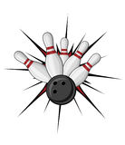 Bowling symbol. Isolated on white for sports design Royalty Free Stock Image