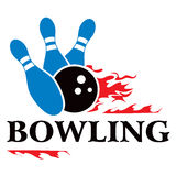 Bowling symbol. Design with bowling symbol isolated on white Royalty Free Stock Image