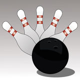 Bowling. Symbol on special gradient background Stock Photos