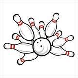 Bowling team or club emblem Stock Photos