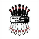 Bowling team or club emblem Royalty Free Stock Image