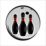 Bowling team or club emblem Stock Images
