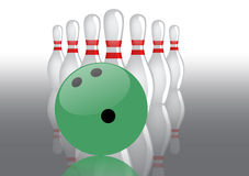 Bowling theme illustration Royalty Free Stock Photography