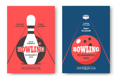 Bowling Tournament Poster Stock Photography