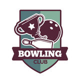 Bowling tournament poster or logo vector template Stock Photo