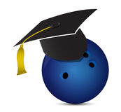 Bowling training school royalty free illustration