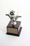 Bowling trophy with bowling ball Royalty Free Stock Photo