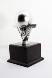 Bowling trophy with bowling ball Royalty Free Stock Image