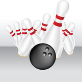 Bowling Vector Illustration Royalty Free Stock Images
