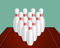 Bowling, vector illustration Stock Photo