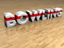 Bowling on wooden parquet Royalty Free Stock Image