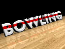 Bowling on wooden parquet Royalty Free Stock Photography