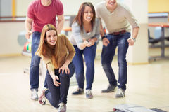 In bowling Royalty Free Stock Images