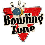 Bowling zone vintage metal sign. Bowling zone vintage rusty metal sign on a white background, vector illustration vector illustration