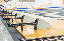 Bowlingbahn. Stockfotografie