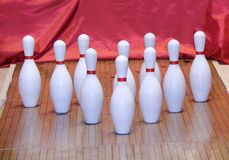 Bowlingbana. Arkivbild