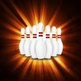 Bowlingbegrepp av sporten Royaltyfri Foto
