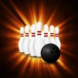 Bowlingbegrepp av sporten Arkivbilder