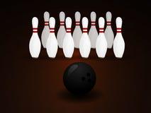 Bowlingbegrepp av sporten Royaltyfria Foton