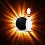 Bowlingbegrepp av sporten Arkivbild